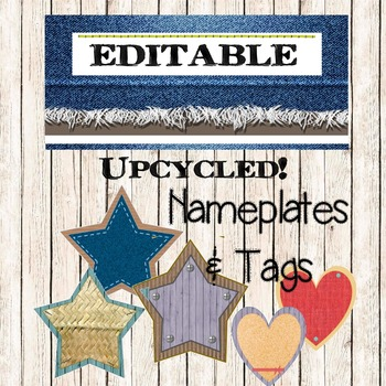 UPCYCLED DECORATIONS! Editable Nameplates / Deskplates and Tags