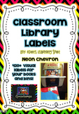 UPDATED Brights and Chevron Neon Library Book Labels (42)