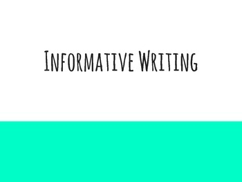 Informative Writing Introduction