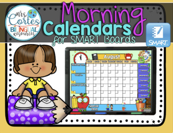 UPDATED!!!! SMARTBOARD Calendar Math- 12 Month Set English