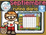 UPDATED!! SMARTBOARD Calendar Math- Septiembre (Spanish)