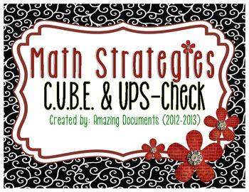 UPS Check and C.U.B.E. Math Strategies