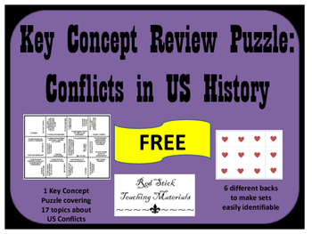 FREE US Conflicts Puzzle