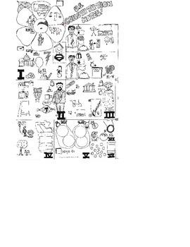 """U.S. Constitution Cartoon Notes-11""""x17"""""""