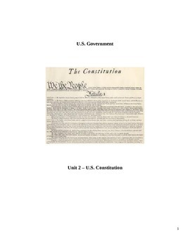 U.S. Constitution Packet