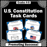 U.S. Constitution Day Task Cards for Social Studies Games
