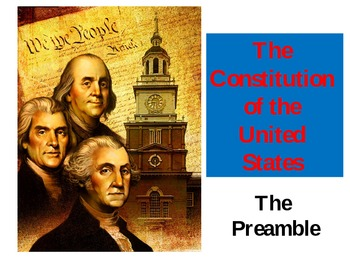 US Constitution: Understanding the Preamble (Revised!)