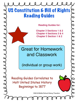 US Constitution and Bill of Rights Reading Guides for Holt