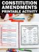 Constitution Day Interactive Notebook Activities Constitut