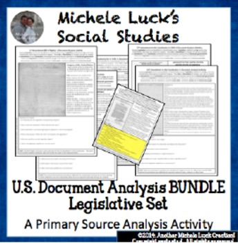 U.S. Document Analysis BUNDLE - Legislative Set of Acts, A