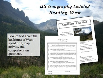 US Geography Leveled Readings West
