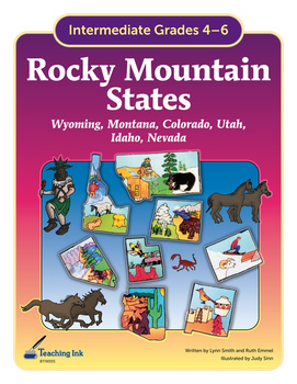 US Geography - Rocky Mountain States (Grades 4-6) by Teaching Ink