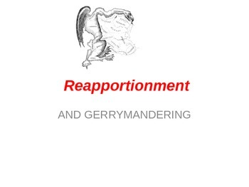US Government Lesson Gerrymandering Reapportionment Powerpoint