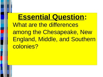 U.S. HISTORY UNIT 1 LESSON 2: The British Colonies in Amer
