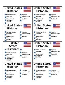 US Historian Cards