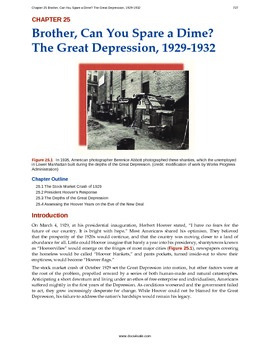 US History - 25 - The Great Depression