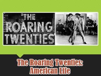 American Life in the Roaring Twenties PowerPoint Presentat