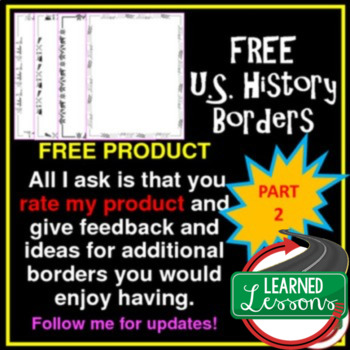 US History Borders PART 2 FREE