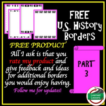 US History Borders PART 3 FREE 1920s, WWI, WWII, Cold War