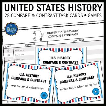 U.S. History Compare Contrast Task Cards