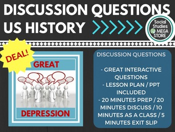 Discussion Questions Great Depression US History