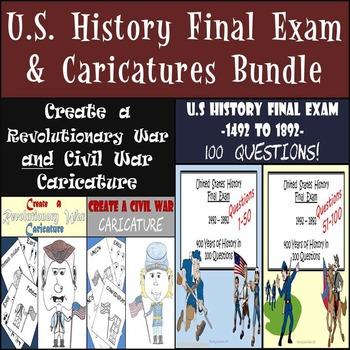 U.S. History Final Exam and Revolutionary War and Civil Wa