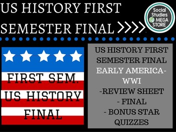 US History Final First Semester