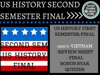 US History Final Second Semester