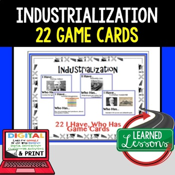 US History Industrialization Game Cards (22 I Have, Who Ha