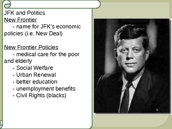 US History Kennedy's Presidency and Assassination
