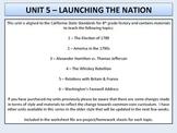U.S. History - Launching the Nation Unit - Washington's Pr