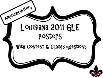US History Louisiana GLE Posters Black and White
