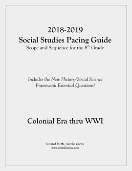 Pacing Guide for US History Social Studies (Scope and Sequ