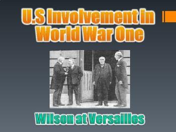 U.S. Involvement in WWI PowerPoint (U.S. History / World W