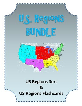 US History Regions Flashcards and Regions Sort Center Game