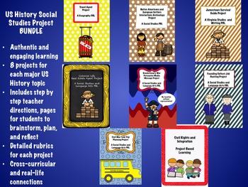 US History Social Studies Project PBL Mega BUNDLE