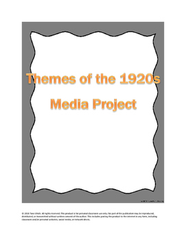US History: Themes of the 1920s Media Project