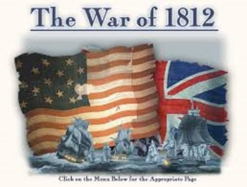 US History lessons War of 1812 Document Based Question Exercise