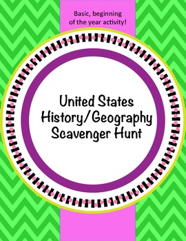 US History/Geography Scavenger Hunt