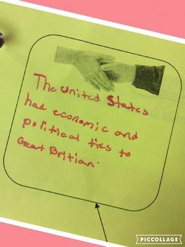 US Involvement in World War I Graphic Organizer and Primar