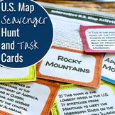 U.S. Map Scavenger Hunt and Task Cards