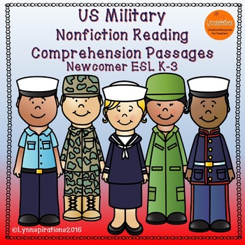 ESL Newcomer:  US Military- Nonfiction Reading Comprehensi