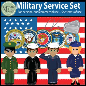 US Military Service Bundle Army, Air Force, Navy Sailor {M