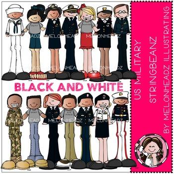 US Military Stringbeanz BLACK AND WHITE