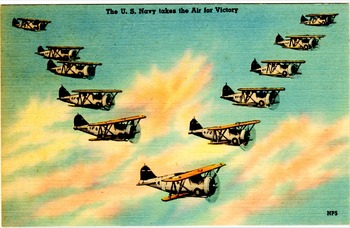 US Navy Air Planes - fly by 1936.