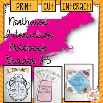 U.S. Northeastern Region Interactive Notebook: Grades 3-5