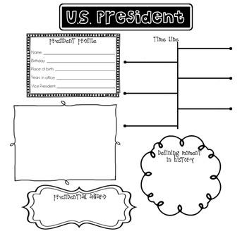 U.S. President Poster Printable