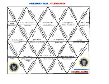 Hands on History-U.S. President and Nicknames Puzzle, Cros