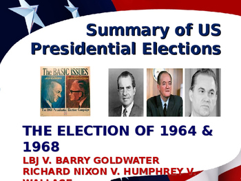 US Presidential Elections - Election of 1968 & 1972 - Nixon