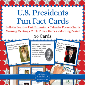 U.S. Presidents Unit Activity - Fun Fact Cards for Games,